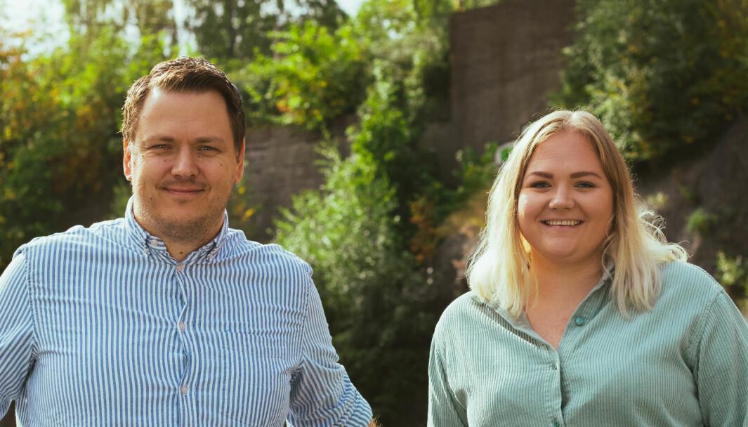 Byråleder Tommy Stiansen og prosjektleder Beate Sæther.