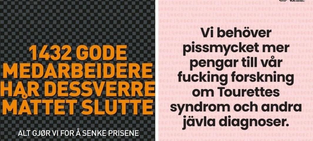 Svensk organisasjon laget Tourette-annonse - Norsk Tourette Forening stiller seg kritisk til å kjøre den samme annonsen her i landet