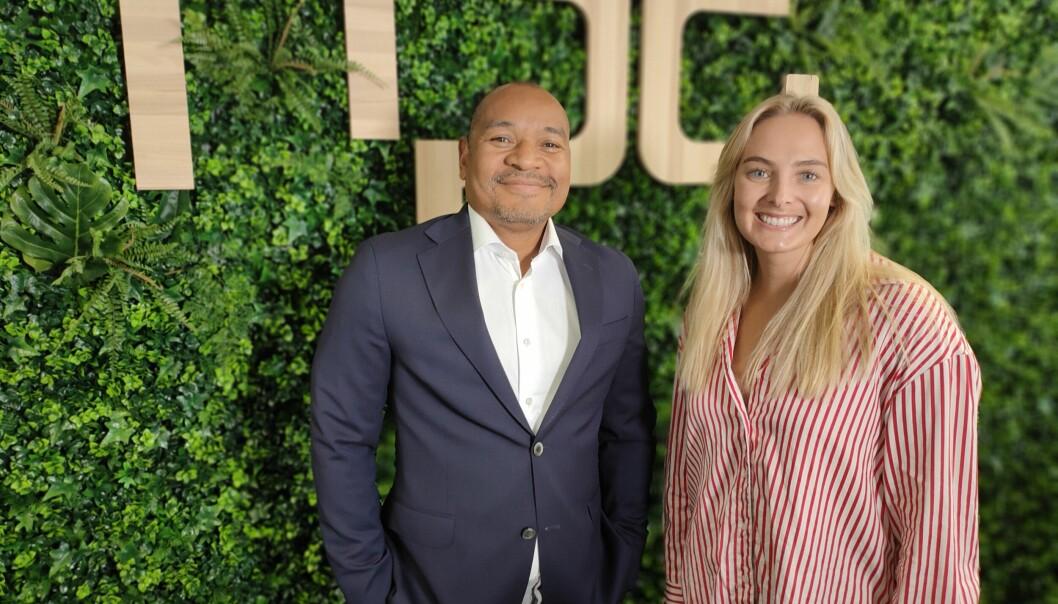 Roald Holt-Jensen og Charlotte Dyb-Sandnes. to av de nye ansatte i NPG.