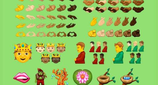 «Pregnant Man» og håndtrykk i ulike hudtoner, er noen av Emoji-nyhetene som er forventet