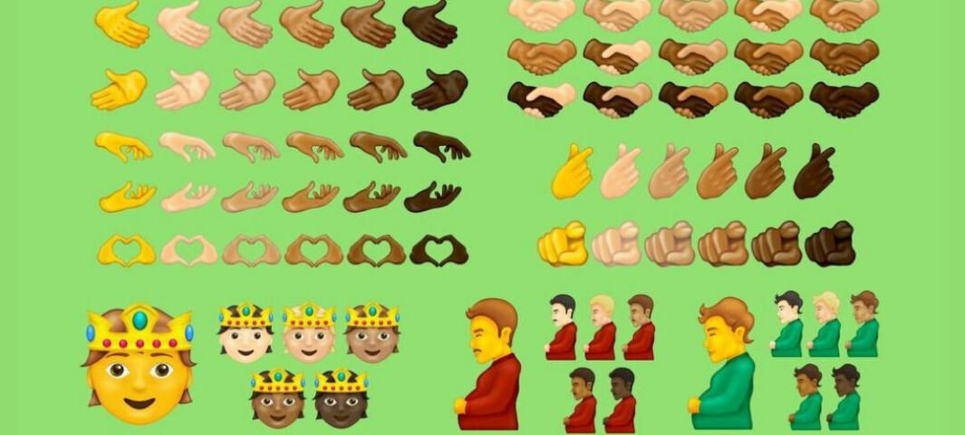 Snart kommer disse emojiene