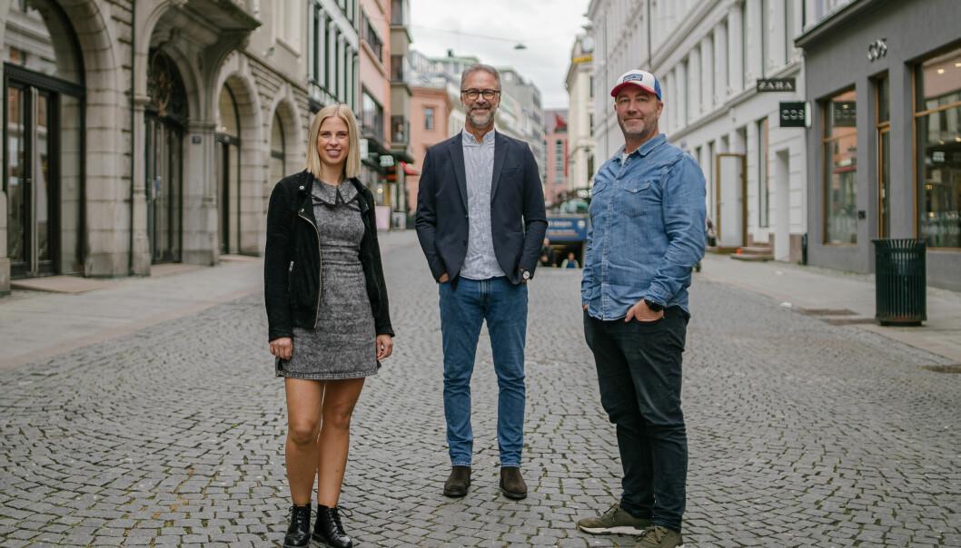 Kristine Eikenes (Try Råd, Arne Husøy (Carat), Marius Eriksen (POL) har hatt jobben når BKK nå skal gå fra én til to merkevarer.
