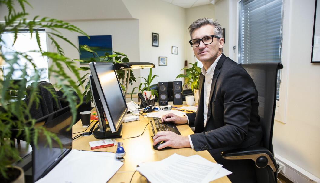 Direktør Bjørn Erik Thon i Datatilsynet opplyser at forvaltningsorganet ikke vil ta i bruk Facebook i sitt kommunikasjonsarbeid. Årsaken er nettsidens behandling av personvernopplysninger. Foto: Mariam Butt / NTB