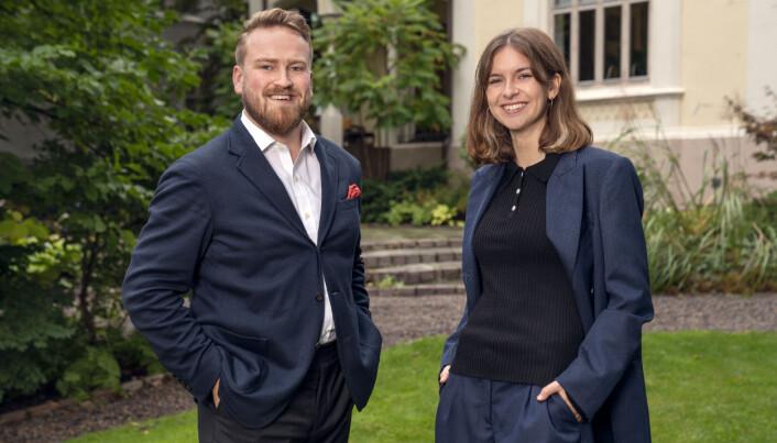 Marie Nygaard Sørlien og Christian A. Schjelderup. er ansatt i Pressure.
