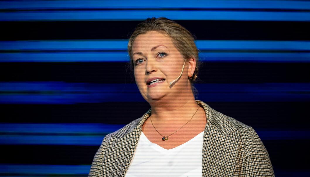 Client Partner Nina Hareide-Larsen i Facebook Norge under Social Media Days 2021 på The Hub i Oslo.