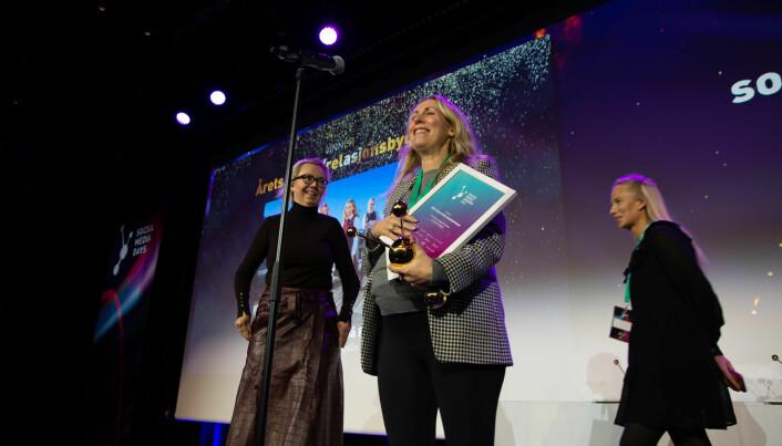 DN Kvinner-gruppen på Facebook for Dagens Næringsliv mottok pris under Social Media Awards 2021.