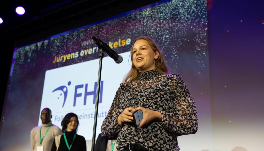Under Social Media Awards 2021 delt juryen ut en overraskelsespris til FHI.