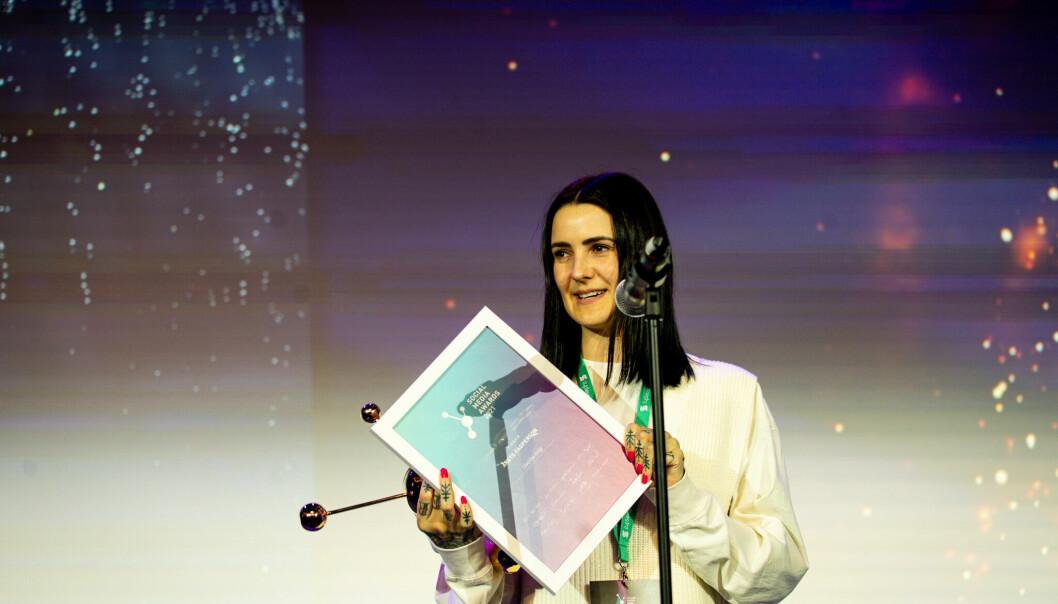 Christine Krieg ble kåret til årets fagperson på mandag. Nå er ambisjonen å gjøre internett til et bedre sted.