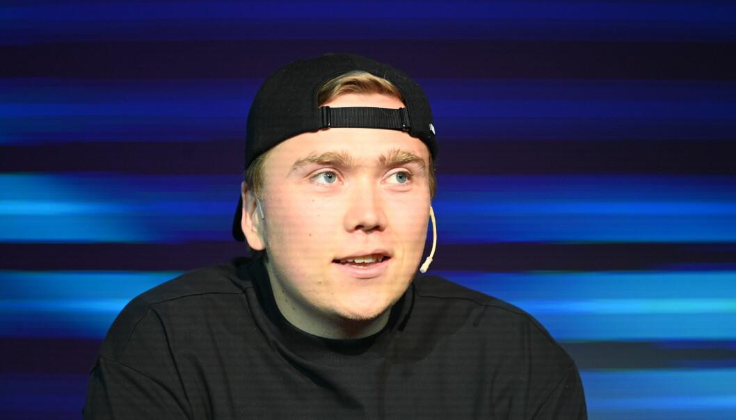 Sindre Bjørnstad på Social Media Days tirsdag formiddag.