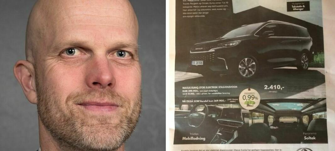 RSA Bil glemte rente-informasjon i annonse: – De burde skjerpe seg, raser Hallgeir Kvadsheim
