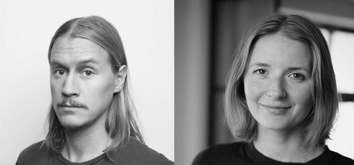 Kreatørene Linus Hjellström og Pia Ølstad i SMFB.