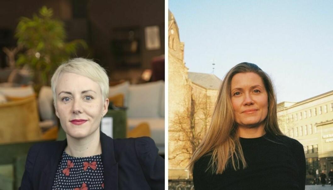 Markedssjef i Møbelringen Åse Emily Sivertsen, og kreativ leder i Manus Siri Skaustein.