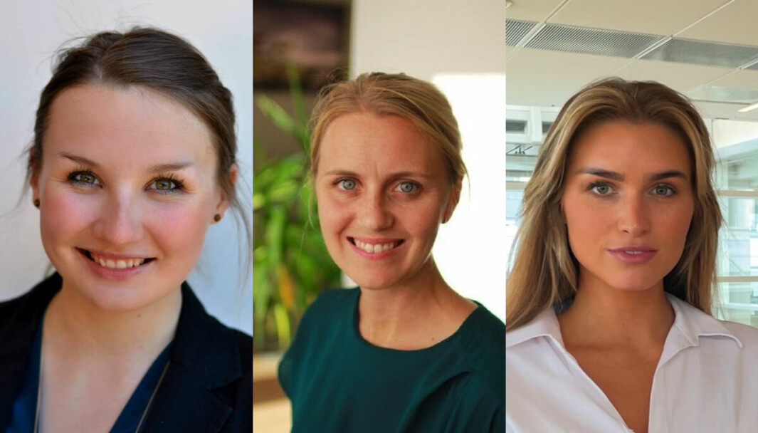 Helthjem ruster opp for videre vekst (f.v.) Freya Medewitz, Katrine Lunde og Synne Haugrønning Braa.