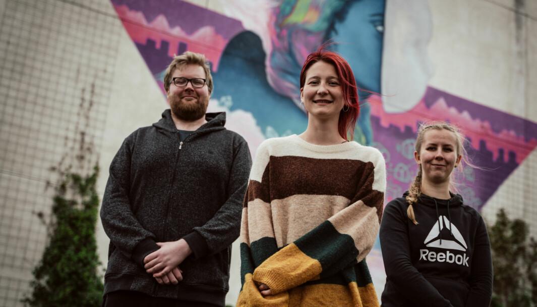 Kristian Stavem, Isabell Helen Johnsen og Rikke Lindberg, jobber alle med webutvikling.