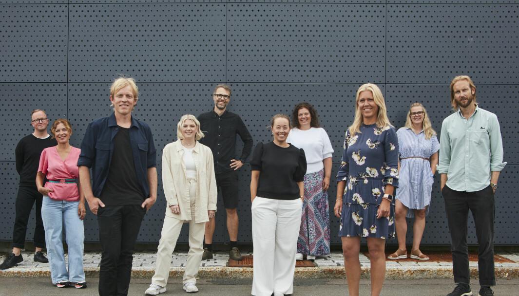 F.v. Kristian Trengereid (Gjensidige), Marlene Garred (Gjensidige), Lars Håvard Dahlstrøm, Marthe Bjørnsen (Gjensidige), Per Olav Walmann, Birgitte Kjersem Lund (Gjensidige), Gro Grotle (Gjensidige), Anne Margrete Børjesson (Gjensidige), Aina Nordhagen og Jørgen T. Helland.
