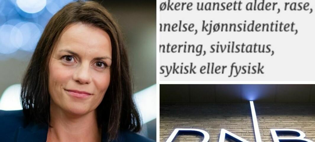 DNB: «Vurderer alle kvalifiserte søkere uansett rase»